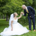 Sposi anniversario di matrimonio