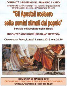Cammino Di Preparazione Diaconale di Alessandro Chiopris